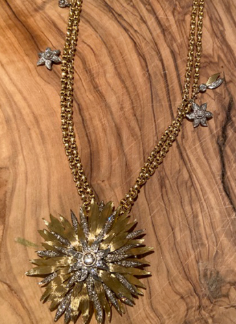Gold Brooch Chain Commissioned Bespoke Jewellery
