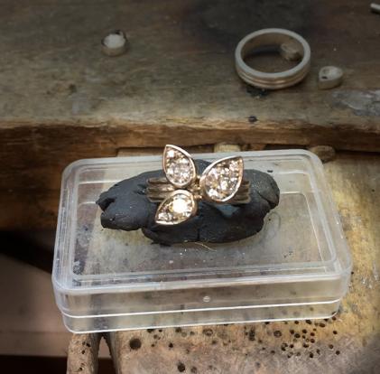 Edith & Kiveen bespoke jewellery - working process