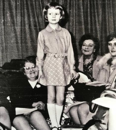 Nicola with her grandmothers