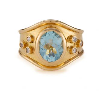 Edith Collection 2016 - Aqua Vita Ring